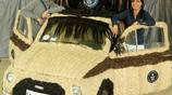 汽車另類改裝,用上真人頭髮,價值10萬刀還打破記錄獲獎牌