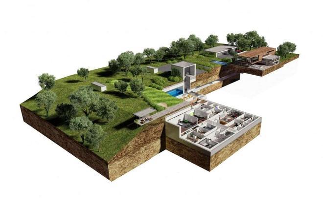 實拍億萬富翁為世界末日所打造的莊園,像一座地下天堂
