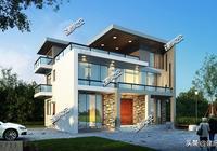 別再建老土的歐式了,3套現代風別墅,漂亮的不像實力派,一級棒
