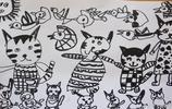 兒童繪畫美美噠!中二班小朋友的線描畫作品