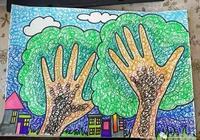 兒童畫 圈圈繞繞兩棵樹