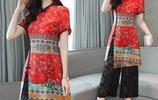 10款新潮中國風套裝,70後女人穿著洋氣上檔次,配高跟鞋很有範