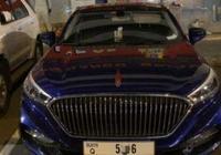 迪拜街頭偶遇紅旗H5,且已掛牌上路!車尾四個字讓國產車驕傲了