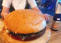 酒鬼超級漢堡,從未見過如此之大的漢堡