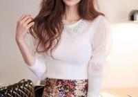 頭條女神孫允珠—雪白色蓬鬆袖圓領衫