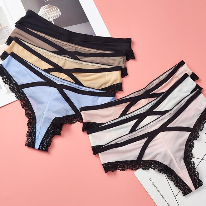 性感鏤空蕾絲三角褲,愛美的老婆以下買了10條,說夠穿一年啦