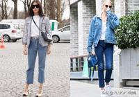 經典藍加白,春季簡約造型不一樣的細節穿搭出街