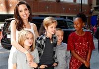 安吉麗娜朱莉帶兒女逛街,女兒越發漂亮,酷似翻版朱莉!