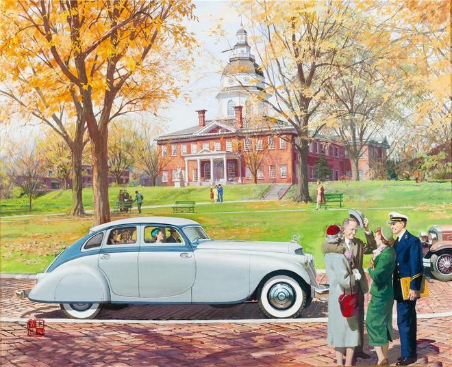 美國早期宣傳畫,經典老爺車