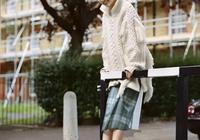 有了時尚溫暖的毛衣,冬天也能任性穿裙子!
