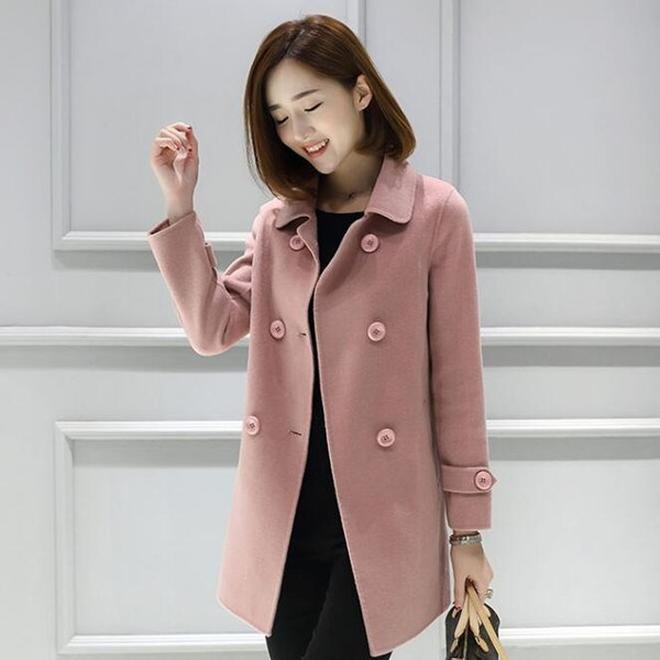 專為小個子女人準備:毛呢外套+打底衫,搭過膝靴洋氣保暖又顯高