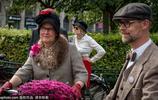 瑞典復古騎行日 民眾精心裝扮吸睛十足