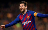歐冠八強第二回合巴薩主場3:0曼聯,梅西本場比賽打進兩球