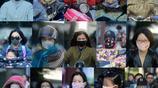 江蘇揚州:霜降過後氣溫驟降 街頭上演多彩口罩秀