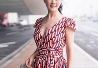 田海蓉高馬尾+連體褲,44歲美出新高度