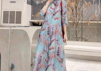 女人一旦過了40,就穿這旗袍裙,優雅不失女人味,穿出清新感