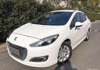 白色標緻家用車,價格在4.38萬左右,真的很白菜了!