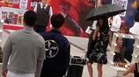 朋友偶遇陳喬恩和鄭愷拍新戲,俊男美女的組合
