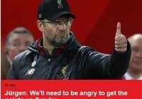 克洛普:對曼聯積分不感興趣,利物浦會全力爭勝