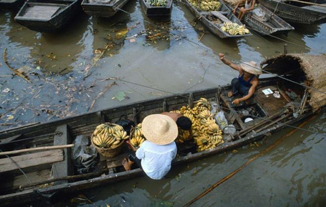 1985年的廣州碼頭:船來船往運香蕉,熱鬧得很