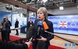 英國首相特蕾莎·梅與歐洲理事會主席圖斯克舉行會談