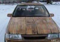 國外一個木匠,用了三年的時間造了一輛能開的木頭車