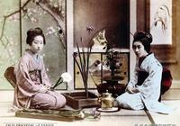 十九世紀的老照片  明治維新時期的日本女人