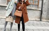 小個子女生也能穿的中長款大衣來了,大衣也能穿出大長腿