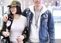 鍾麗緹夫婦現身機場,時尚穿搭魅力十足,網友調侃現代版楊貴妃