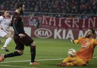 歐聯:薩帕塔破門,AC米蘭1-3奧林匹亞科斯遭淘汰