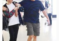 俞灝明機場偶遇劉燁興奮摟住 不料劉燁撞轉頭就跑