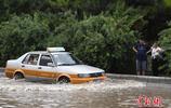 長春暴雨引發城市多處出現內澇積水
