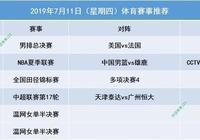 中國男籃VS雄鹿,男排總決賽開啟,明天(7月11日)賽事推薦