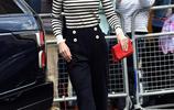 婚變傳聞後凱特王妃現身,穿條紋衫搭配闊腿褲,青春活力哪像37歲