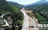 寶雞太白至鳳縣高速公路建設怎麼樣了?航拍大圖帶你看