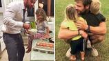 貝克漢姆等名人爸爸在網上po出自己與兒子女兒們的照片,好暖