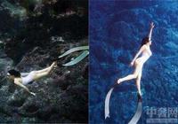 鍾麗緹和老公水下接吻 鍾麗緹再變身美人魚