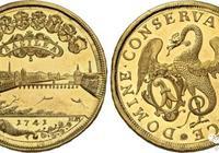 瑞士金幣之王的風采——巴塞爾1741年20杜卡特金幣