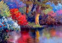 美國油畫家肯特油畫風景欣賞