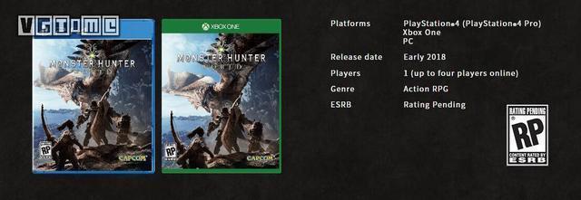 《怪物獵人》新作《怪物獵人:世界》正式公佈