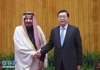 張德江會見沙特國王薩勒曼