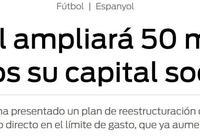 西班牙人增資5000萬,俱樂部財政狀況大有好轉