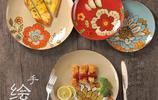 創意手繪陶瓷盤子,方圓之間盡顯文藝之氣,拍食物發朋友圈美美的