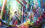 超級唯美畫風,蘿莉卡哇伊筆記本桌面背景