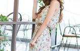 最是那一低頭的溫柔,不勝江南女子嬌羞,溫婉淑雅雪紡裙如期而至
