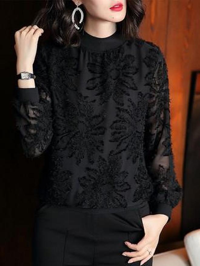 加絨小衫掀起了內搭風潮,高級百搭,搭羽絨服,優雅時尚忒暖美