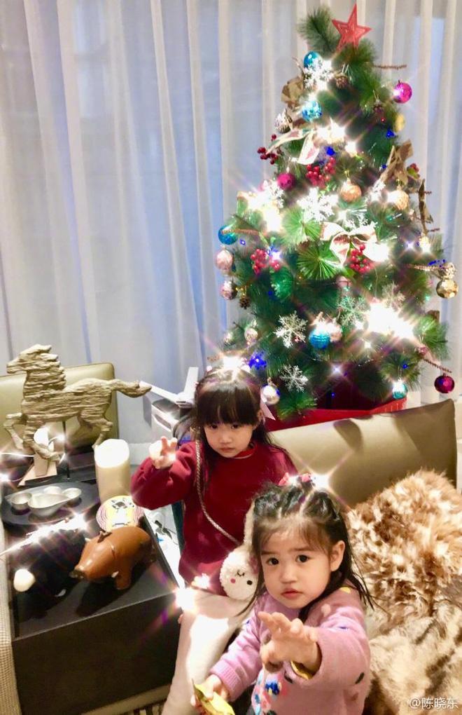 陳曉東罕見晒一家四口的合照,兩個女兒長得超漂亮