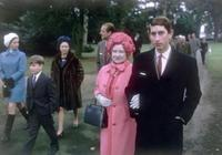17歲查爾斯挽著伊麗莎白王太后,走在隊伍前頭氣勢足,帥呆了