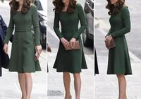 凱特王妃綠色連衣裙,演繹春季少女風,妹妹皮帕獨自帶娃皺紋明顯