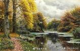 丹麥畫家蒙森德鄉村郊野風景油畫,美麗而祥和